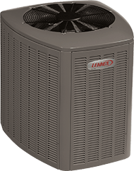 A Grey Lennox Heat Pump