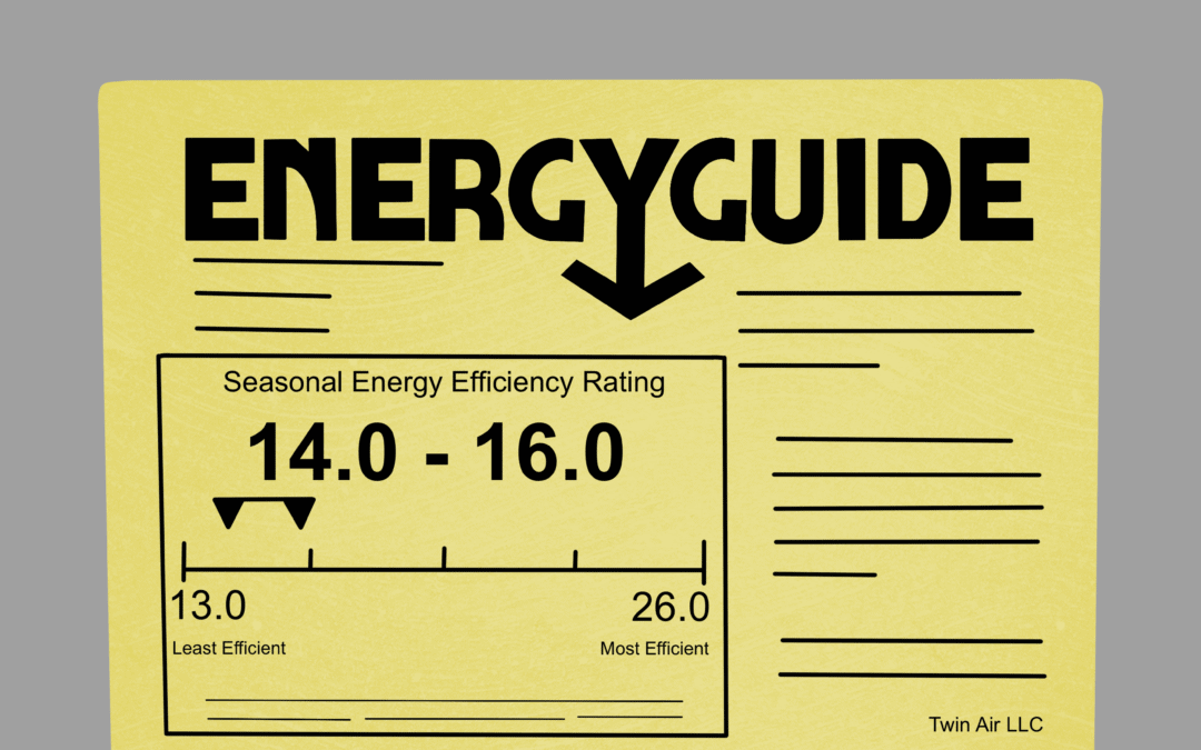 Energy Guide Sticker Illustration